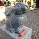 【愛知】弓曳きうさぎの星野君がお出迎え♪「三輪神社」の御朱印【大須編③】